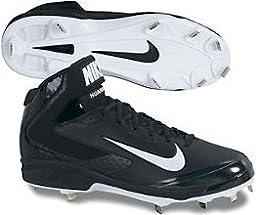 Nike Men\'s Huarache Pro Mid Metal Cleat - Black/White - 11.5 599235-001-11.5