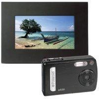 """Polaroid 5.1 Megapixel Camera ( BAA-05015B) plus 7"""" Digital Photo Frame (IDF-0720) from Polaroid"""
