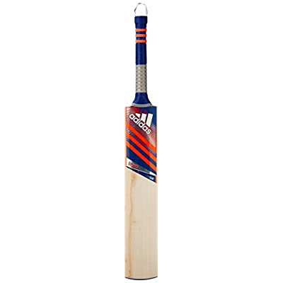 adidas Libero League English-Willow Cricket Bat, Short Handle (Red)