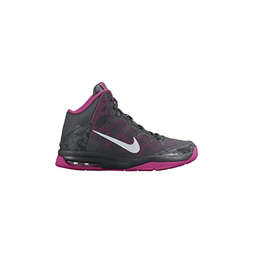Boy's Nike Without A Doubt (GS) Basketball Shoe Anthracite/Pink/Metallic Silver Size 7 M US