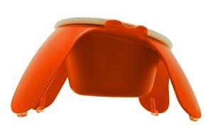 Petego Pet Bowl with Ceramic Tulip, Large, Orange