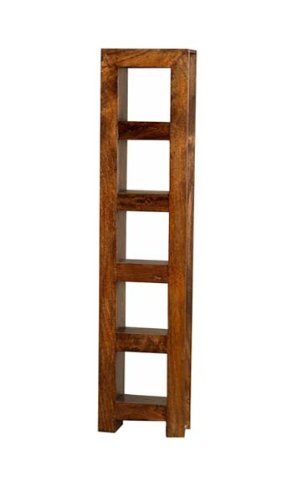 MANGO DAKOTA CD/DVD RACK HARDWOOD SHELVING UNIT INDIAN FURNITURE
