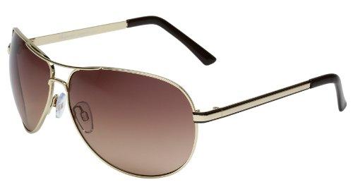 Burgmeister Herren Sonnenbrille SBM101-122, Gr. one size, Gold (Chicago)