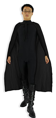 "JustinCostume Adult Black Velvet 48"" Halloween Costume Cape Party Accessories"