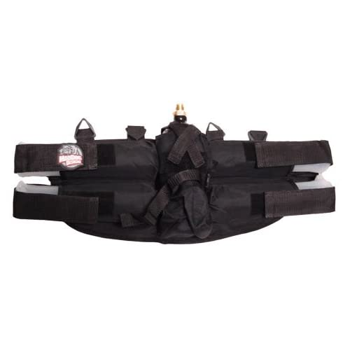 Black Deluxe GXG Paintball 4+1 Harness Ammo Pack
