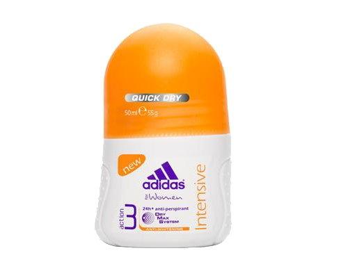 Adidas deodorant roll-on 50ml intense pour les femmes, 50ml