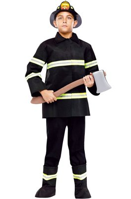 Kids Firefighter Fire Chief Boys Halloween Costume S Boys Small (4-6)
