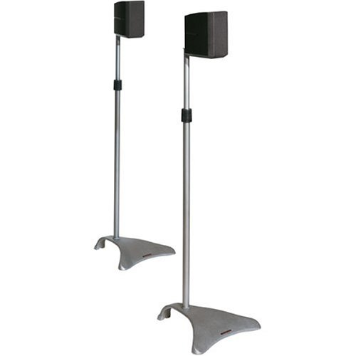 Atlantic Satellite SPSCUR47 2 Speaker Stands (Titanium)