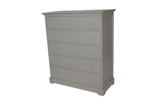 Munire Chesapeake 5 Drawer Dresser, Light Grey
