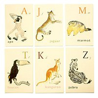 Martha Stewart Animal Alphabet Cards Wall Decor