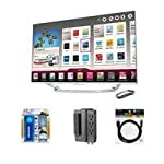 LG 47LA7400 47″ Cinema 3D Smart TV with Magic Remote – Bundle – with Sanus Systems ELM202 6-Outlet Surge Protector, Xtreme Cables HDMI 1.4 Audio/Video 6′ Cable for 3D HDTV, & Xtreme Cables 200ml HDTV Deluxe Cleaning Kit
