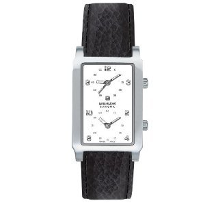 Swiss Military Hanowa Men's 06-4019-04-001 Globe Trotter White Dial Leather Strap Watch