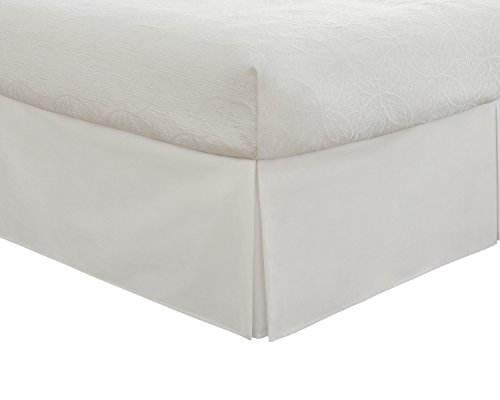 Fresh Ideas Tailored Poplin Bedskirt 14-Inch Drop California King, White (Ca King Bed Skirt compare prices)