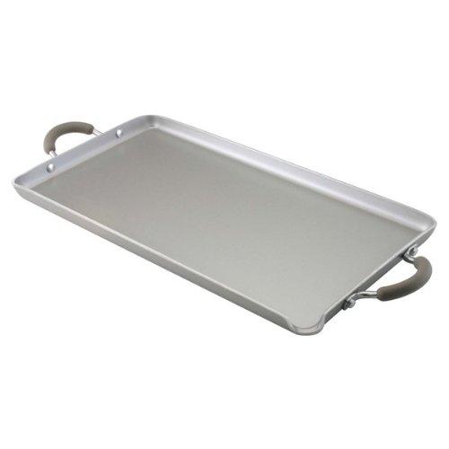 Farberware Specialties Nonstick Aluminum 18-Inch x 10-Inch Double Burner Griddle, Platinum (Double Burner Farberware compare prices)