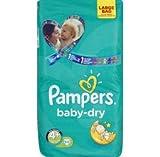 Pampers Baby Dry - Couches Taille 4+ Maxi Plus 9-20kg - Le paquet de 54