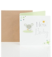 Little Mouse New Baby Card