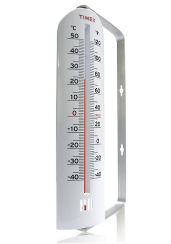 Timex TX1002 9-Inch Tube Thermometer with Metal Bracket