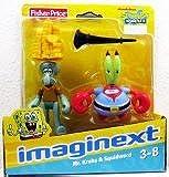 Imaginext, SpongeBob Square Pants Exclusive Figures, Mr. Krabs & Squidward, 2-Pack