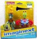 Imaginext, SpongeBob SquarePants Exclusive Figures, Mr. Krabs & Squidward, 2...