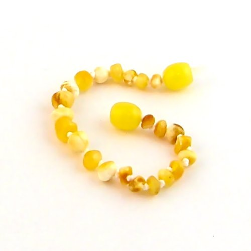 "Hazelaid (TM) 5.5"" Baltic Amber Milk & Butter Bracelet"