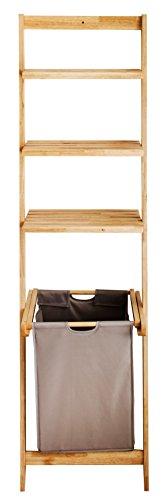 bonvivo leiterregal vivienne vielseitiges badezimmer regal mit abnehmbaren w schekorb und 3. Black Bedroom Furniture Sets. Home Design Ideas