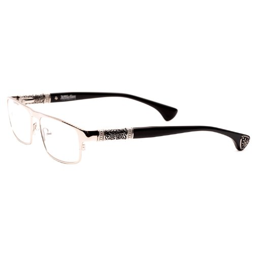 Affliction HELIOS Designer Eyeglasses - Black/Silver