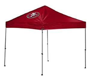 NFL San Francisco 49ers Straight Leg Canopy with Case, 9 x 9-Feet
