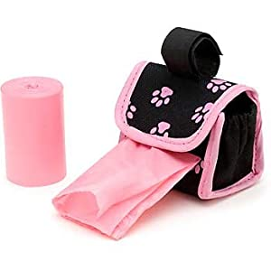 Doggie Walk Designer Dispenser with 30 Bags Pink