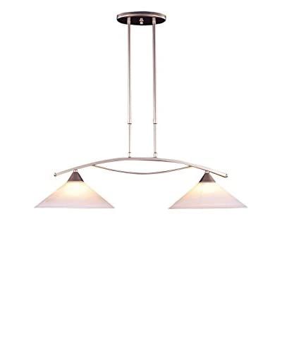 Artistic Lighting Elysburg 2-Light Island, Satin Nickel