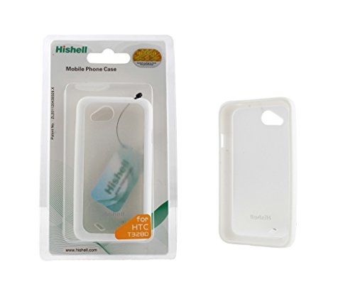 Hishell TPU+PC Case & Cover For HTC Desire VC T328d Back Cover Cases (White)