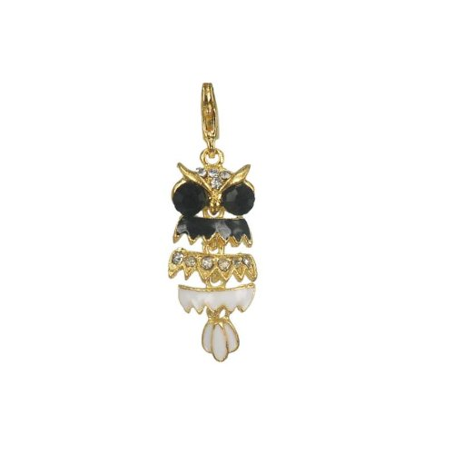 Charm Eule aus vergoldet 18K by Charming Charms