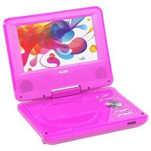 Alba 17,8cm Lecteur DVD portable-Rose