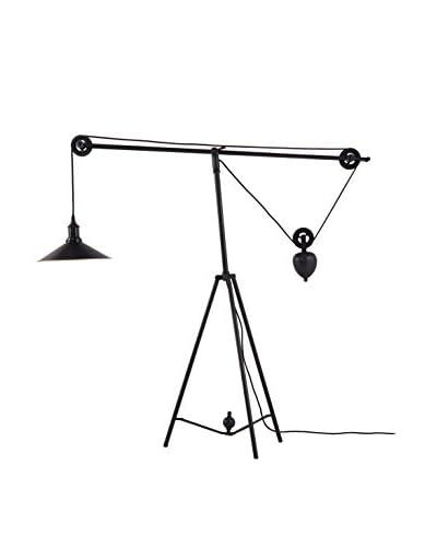 Zuo Jasper 1-Light Floor Lamp, Antique Black/Gold