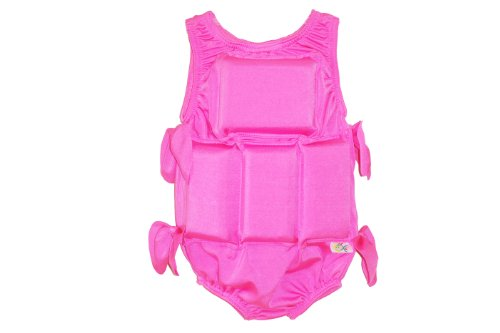 Find Bargain My Pool Pal Girl's Flotation Swimsuit, Solid Pink, Small