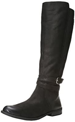 Lucky Women's Ostrand Equestrian Boot,Black,5 W US