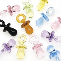 One Pack of 100 Pieces Multi Colored Mini Baby Pacifier Charms