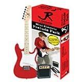 J. Reynolds Mini Double Cutaway Electric Guitar Prelude Pack - Rockin' Red
