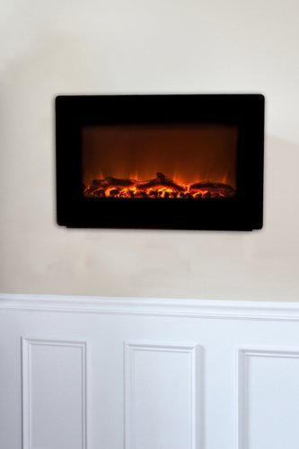 Fire Sense Black Wall Mounted Electric Fireplace Garden, Lawn, Supply, Maintenance