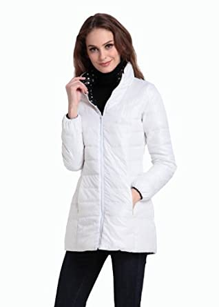 Qp Women's Long in the Positive and Negative Two Upset Female Model of Cotton-padded Clothes Coat (S)
