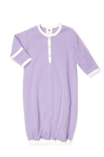 Kate Quinn Organic Classic Infant Sacque, 3-6M (Sugar Plum) - 1