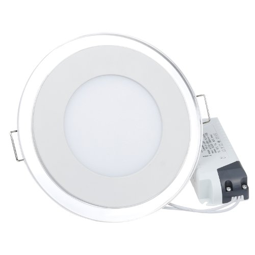 S6Store® S6Store® 10W Ac100~265V Round Cold White Acrylic Crystal Led Panel Recessed Ceiling Downlight Bulb Lamp