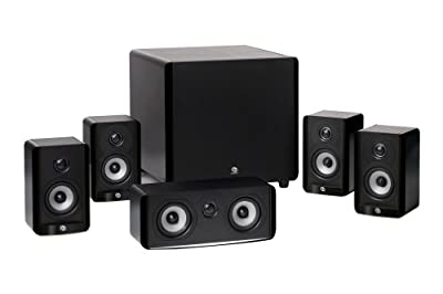 Boston Acoustics A 2310 HTS 5.1 Home Theater Speaker Package with 100-Watt Powered Subwoofer (Gloss Black) by Boston Acoustics