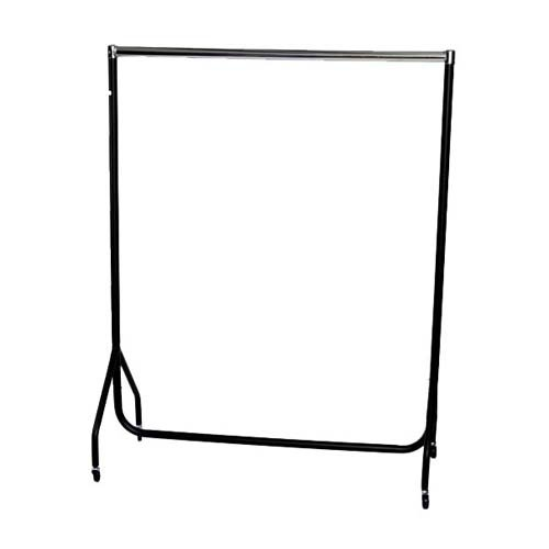 4ft Robust Chrome and Black Clothes Rail with stronger than the normal rail frame.