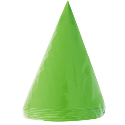 Lime Cone Hats (8) Party Supplies by Unique Industries - 1