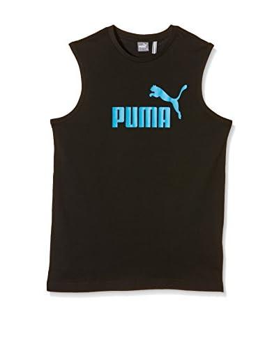 PUMA Apparel Ess Large Logo Sl Tee, B Black 51