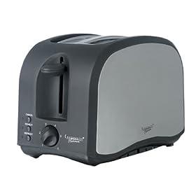 Platinum 2 Slice Stainless Black Toaster