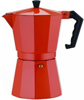 Aluminum 3 Cup Espresso Maker Designer Red