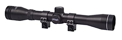 "Walther 4x32 Rifle Scope, Duplex Reticle, 1"" Tube, 11mm Rings from Green Supply"