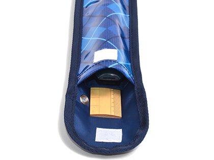 School Assistant recorder & ruler case Argyle / Ocean made in Japan N4227600