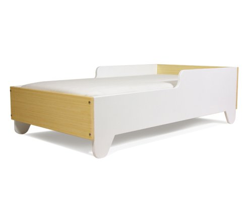 Hiya Toddler Bed - Polar White & Bamboo